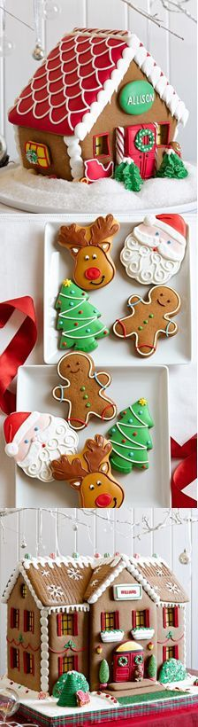 Order your cookie boxes & handmade gingerbread houses by Wed - Delivery Food - Ideas of Delivery Food - Christmas cuteness! Order your cookie boxes & handmade gingerbread houses by Wednesday Dec. for a Christmas delivery! Gingerbread House Parties, Christmas Gingerbread House, Christmas Sweets, Christmas Cooking, Noel Christmas, Christmas Goodies, Christmas Decorations, Gingerbread Houses, Christmas Cakes