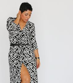 #DIY Cardi Pattern Turned Dress - Mimi G Style