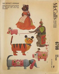 Vintage 60's Sewing Pattern Six Novelty by SuzisCornerBoutique, $15.00