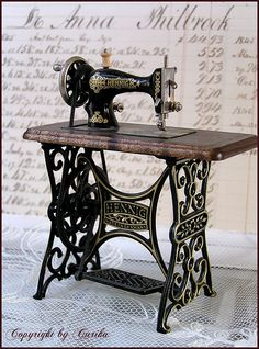 Miniature Vintage inspired sewing machine | Flickr - Photo Sharing!