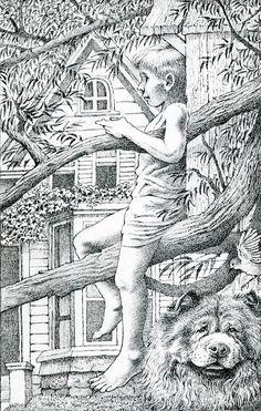 Maurice Sendak, Volar de noche, Alfaguara, Primera edición original en a todo color Doodle Coloring, Colouring Pages, Adult Coloring Pages, Coloring Books, Maurice Sendak, Typography Prints, Children's Book Illustration, Learn To Paint, Artist Art
