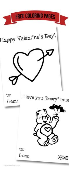 Free Valentine coloring pages .