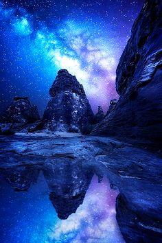 Milky way Mountain / Saudi arabia, by Abdulmajeed aljuhani