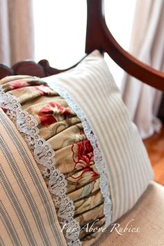 Far Above Rubies: Ruffles, burlap and lace