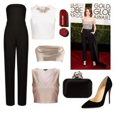 """""""Red Carpet Inspo 💄💋"""" by ashleeyneeo on Polyvore featuring STELLA McCARTNEY, Miss Selfridge, Ted Baker, Dolci Follie, Christian Louboutin, Jimmy Choo and GoldenGlobes"""