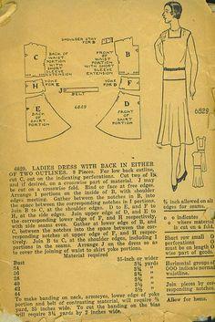 Vintage 1920s Dress Pattern