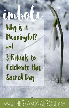 Discover the spiritual meaning of Imbolc, an ancient Pagan Sabbat celebrating the early signs of spring, with 3 Imbolc Rituals to Celebrate this Sacred Day.