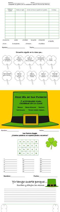 5 actividades para celebrar el Dia de San Patricio en la clase!