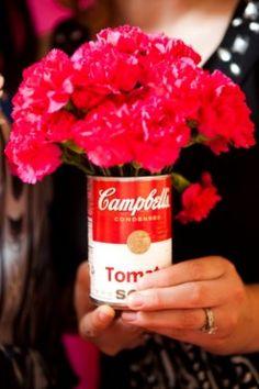 Pop Art Wedding Ideas-13    But, I'd use Heinz Ketchup bottles!