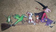 Room on the Broom, manipulatives- this is an activity where you scan the pictures and children use them to make a first to last sequence.