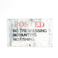 Vintage Metal Sign . POSTED . No Hunting . No by VintageCommon, $40.00
