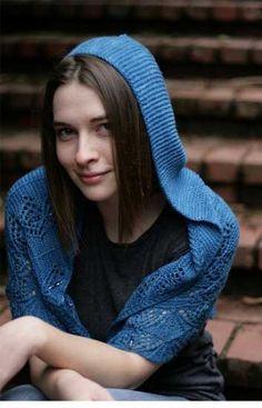 Jo's Pride Hooded Shawl by Sivia Harding