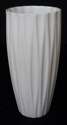 Hutschenreuther German Porcelain Vase Vintage Modernist OP ART Matte   eBay