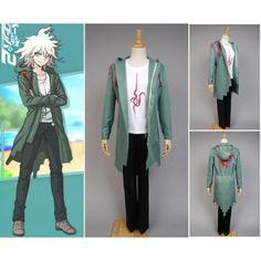 Super Dangan Ronpa 2 Dangan-ronpa Nagito Komaeda Cosplay Costume