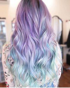 Gorgeous Hair Color Purple to cyan gradient hair color (via IG:Courtne Pelo Multicolor, Gradient Hair, Ombré Hair, Beautiful Hair Color, Hair Color Purple, Coloured Hair, Hair Brained, Hair Color Balayage, Hair Colorist