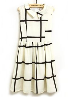 Black + White Plaid Dress