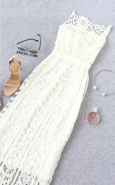 white-lace-cami-lace-dress-chic