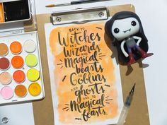 Happy Halloween!  Watercolor Lettering, Happy Halloween, Witch, Phone Cases, Witches, Witch Makeup, Wicked, Maleficent, The Witcher