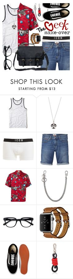 """The Geek Makeover"" by ivansyd ❤ liked on Polyvore featuring Hollister Co., Vivienne Westwood, Dsquared2, Tommy Hilfiger, Gucci, EyeBuyDirect.com, Fauve, Vans, Loewe and Mahi"