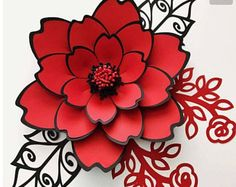 SVG Paper Flower Template, Digital Version, The Couture - Original Design by Annie Rose, Cricut and Silhouette Ready #100