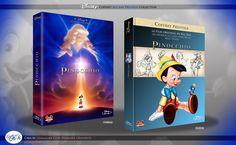 Concept de collection Blu Ray prestige Disney avec fourreau et Digibook : Pinocchio Disney Blu Ray, Animation Disney, Pinocchio, The Prestige, Film, Collection, Cover, Books, Art