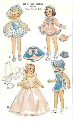 Vintage 14in Mary Hoyer Doll Clothing Pattern 1564.-For sure Mom had this pattern, I have the sun suit and all the outfits she made from this!!!!