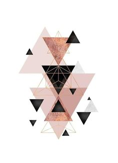 """Geometric Triangles in blush and rose gold"" Canvas Print by UrbanEpiphany Rose Gold Wallpaper, Iphone Background Wallpaper, Pastel Wallpaper, Aesthetic Iphone Wallpaper, Toile D'or, Rose Gold Throw Pillows, Tapete Gold, Gold Canvas, Pretty Wallpapers"