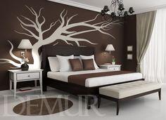 schlafzimmergestaltung f r kleine r ume 30 einrichtungsbeispiele wandfarbe braun. Black Bedroom Furniture Sets. Home Design Ideas