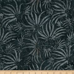 "106"" Wide Batavian Batiks Quilt Backing Ylang Ylang Charcoal from @fabricdotcom  Designed for South Sea Imports, this Indonesian batik fabric is perfect to back your favorite quilt without additional seaming, to make sheets, or duvet covers, pillows, dust ruffles and more! Colors include black, grey and charcoal."