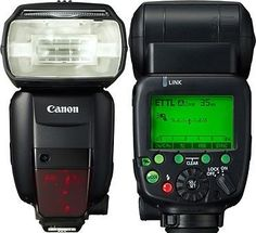Good article on the Canon flashes.  This will help decide which would work best for your situation.