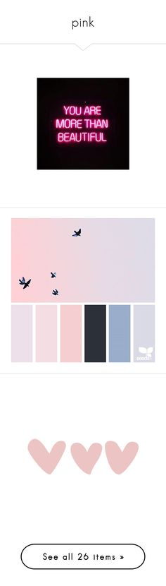 """""""pink"""" by gately ❤ liked on Polyvore featuring backgrounds, filler, fillers, hearts, pink, pink fillers, doodles, text, effects and quotes"""
