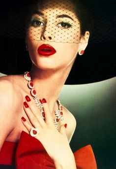 Revlon's 1988 campaign with Christy Turlington  Been trying to find classy vintage hats for forever now!
