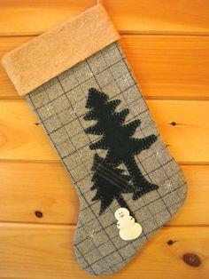 Personalized Christmas Stocking Large Christmas by AwayUpNorth