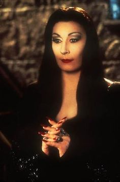 I wish I could walk around like Morticia Addams and constantly be in perfect lighting...