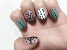 How To: Fall Tribal Nail Art // Easy To Do DIY manicure Heyhar Harli G