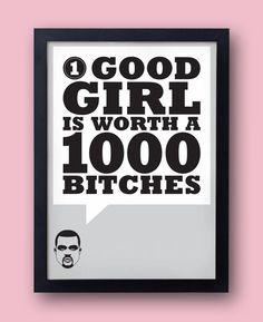 KANYE WEST Yeezus lyrics poster set I Am A God by bestplayever