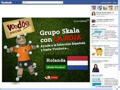 Do you want to play? La aplicación consiste en clavar una serie de alfileres a un muñeco voodoo vestido con la camiseta del equipo rival de la selección
