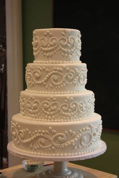 Royal piped wedding cake by Joshua John Russell