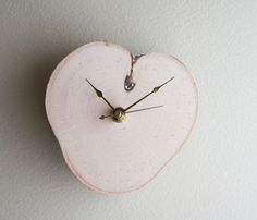 Relax White Birch Clock - I think it looks like an apple, what a nice addition to a kitchen.
