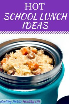 These thermos lunch ideas are healthy and simple. Great for kids lunchbox ideas, for back to school. For adults, they are easy recipes. Hot school lunches are the best. Easy tips to keep your lunch warm well past lunchtime. Kids Lunch For School, Healthy Lunches For Kids, Lunch To Go, Easy Healthy Dinners, Kids Meals, Kid Lunches, Lunch Time, School Days, High School