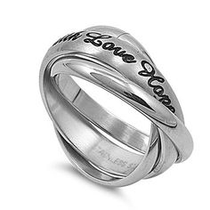 "STR-0021 Matte Finished ""Faith Love Hope"" Stainless Steel Triple Band Ring Size 6-10; Comes Free Gift Box (12) Jinique http://www.amazon.com/dp/B00Q5E7YP4/ref=cm_sw_r_pi_dp_uiTewb0YGC6T2"