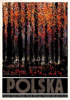 All Saints' Day in Poland Zaduszki, Polska Kaja Ryszard Polish Poster. Polish Posters, All Saints Day, Railway Posters, Pub, Vintage Travel Posters, Illustrations And Posters, Art Images, Photo Art, Street Art