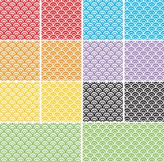 Dragon Scales Seamless Pattern Swatch for Adobe Illustrator Free Vector