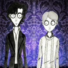 Tim Burton style Sherlock