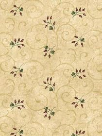 Wallpaper Berry Toss pattern BSB7134. Keywords describing this pattern are berries, scroll look, Super Value.  Colors in this pattern are Tan.  Alternate color patterns are BSB7132;Page:97;BSB7133;Page:98.  Product Details:  prepasted  peelable  washable  Material is Paper Backed Vinyl. Product Information:  Book name: 4Walls Super Value Pattern name: Berry Toss Pattern #: BSB7134 Repeat Length: 20 1/2 inches.  Pattern Length: 16 1/2 inches.  Pattern Length: 20 1/2 inches.