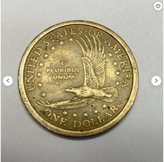 2000 D Sacagawea Dollar   Etsy Rare Coin Values, Old Coins Value, Silver Coins For Sale, Old Coins Worth Money, Sacagawea Dollar, Valuable Coins, Coin Art, Error Coins, One Dollar