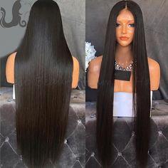 8a Long Silky Straight Human Hair Wigs Virgin Brazilian Full Lace…