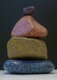 nice Fat Stone Stack - Al Pebble Painting, Dot Painting, Pebble Art, Stone Painting, Stone Crafts, Rock Crafts, Arts And Crafts, Hand Painted Rocks, Painted Stones