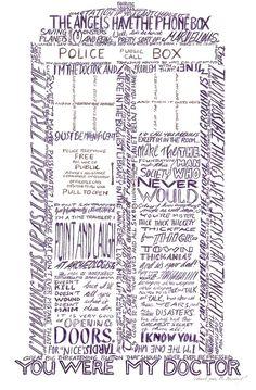 Tardis Word Art, love it :)