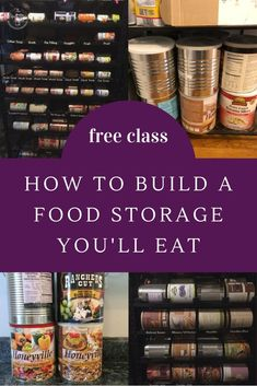 FREE CLASS How to build food storage you'll eat. FREE CLASS To starting an emergency food supply. Emergency Food Supply, Emergency Supplies, Disaster Preparedness, Survival Prepping, Carlito's Way, Soup Broth, Long Term Food Storage, Food Stamps, Frugal Living Tips